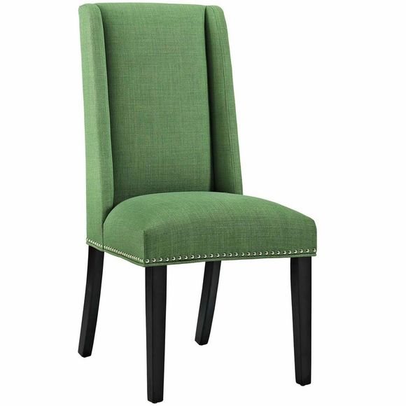 Baron fabric dining chair modern in designs for Contemporary fabric dining chairs
