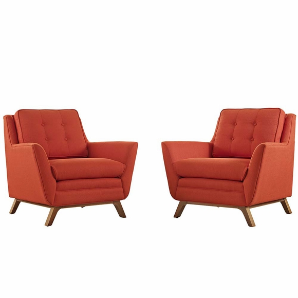 Beguile 2 Piece Fabric Living Room Set