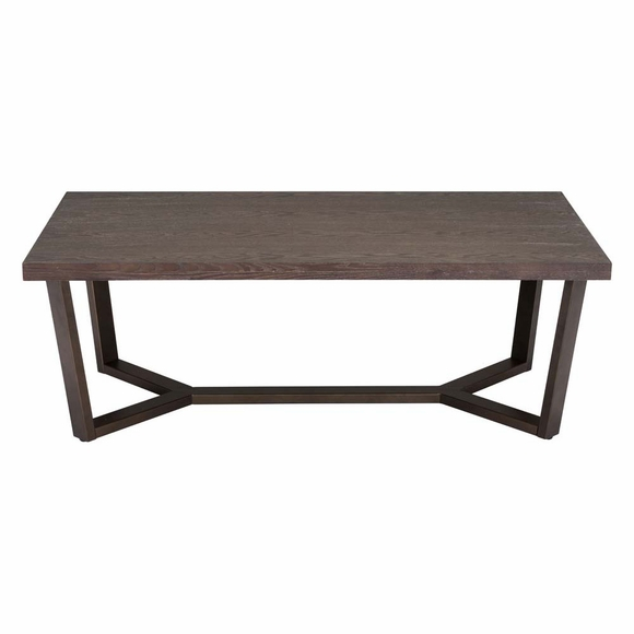 Brooklyn Coffee Table Gray Oak Amp A Brass Modern In Designs