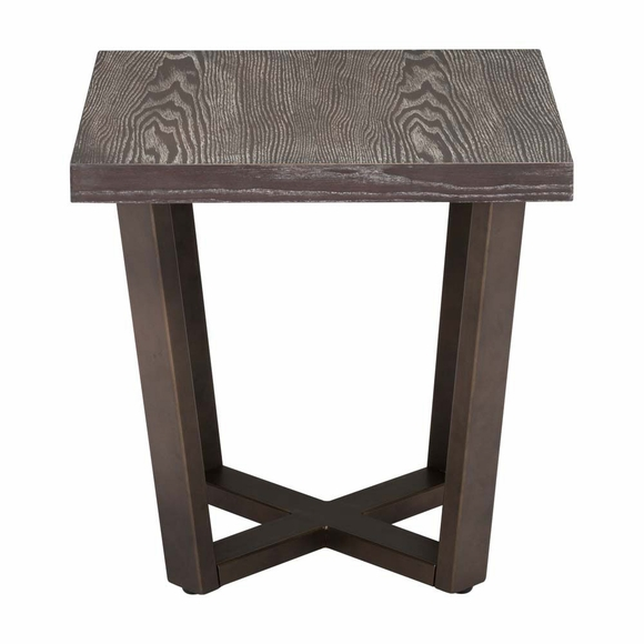 Brooklyn Side Table Gray Oak Amp A Brass Modern In Designs