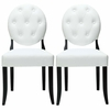 Button Dining Chairs Set of 2