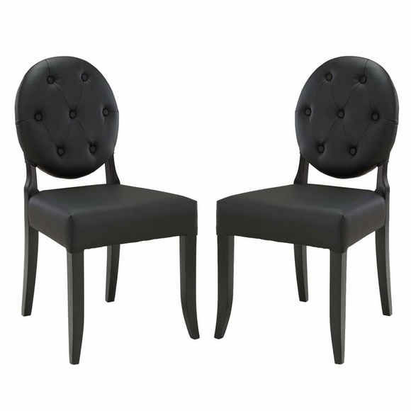 Button Dining Side Chair Set of 2