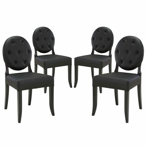 Button Dining Side Chair Set of 4