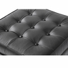 Button Ottoman in Leather