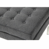 Button Ottoman in Wool, Gray
