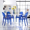 Casper Dining Armchairs Set of 4 in Blue