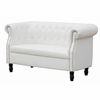 Chester Bonded Leather Loveseat