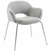 Cordelia Dining Armchair in Light Gray