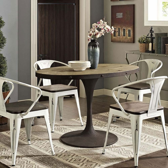 Drive 47 Quot Oval Wood Top Dining Table Modern In Designs