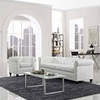 Earl 2 Piece Vinyl Living Room Set