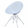 Eco Wirebase Dining Chair, White