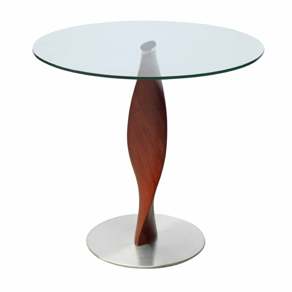 Edge 30 Quot Fiberglass Dining Table Clear Modern In Designs