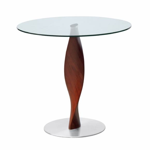 "Edge 30"" Fiberglass Dining Table, Clear"