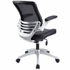 Edge Leather Office Chair in Black