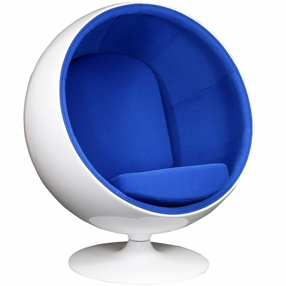 eero aarnio style ball chair blue. Black Bedroom Furniture Sets. Home Design Ideas