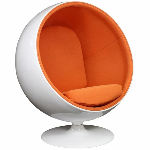 eero aarnio style ball chair orange. Black Bedroom Furniture Sets. Home Design Ideas