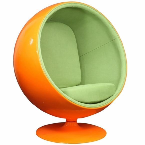 eero aarnio style ball chair orange green. Black Bedroom Furniture Sets. Home Design Ideas