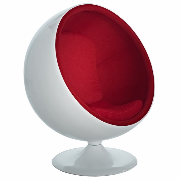 eero aarnio style ball chair red. Black Bedroom Furniture Sets. Home Design Ideas