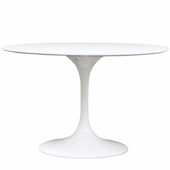 Eero Saarinen Style Tulip Fiberglass Dining Table - Saarinen outdoor dining table