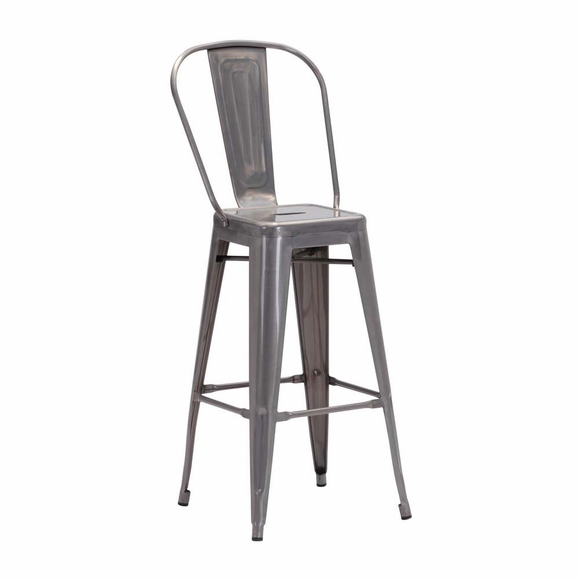 Elio Bar Chair Gunmetal Set of 2