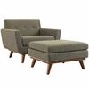 Engage 2 Piece Armchair and Ottoman