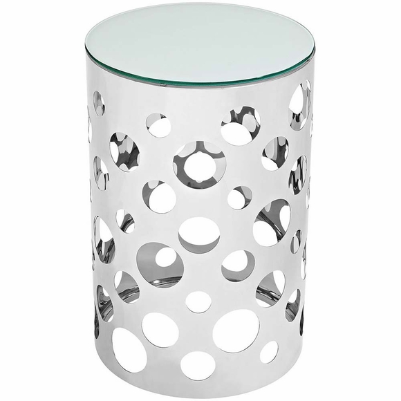 Etch Stainless Steel Side Table