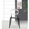 Evo Acrylic Dining Side Chair, Transparent