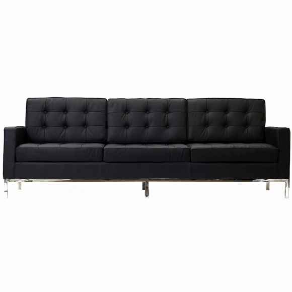 Florence Knoll Style 3 Seater Loft Sofa Leather