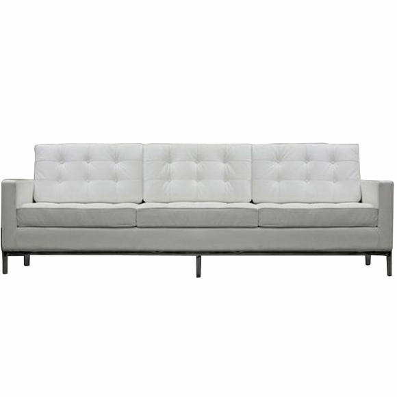 ... Florence Knoll Style 3 Seater Loft Sofa Leather ...
