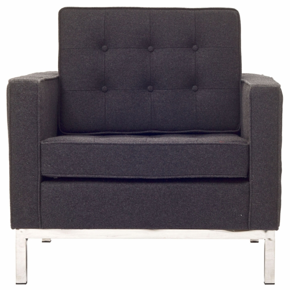 Florence Knoll Style Armchair Wool