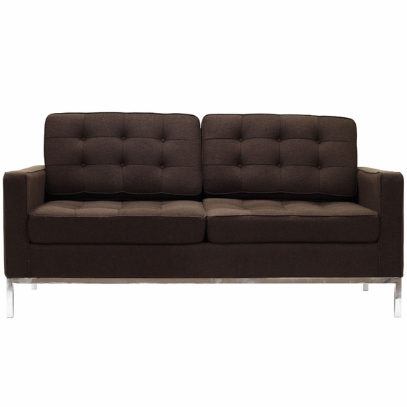 Florence Knoll Two Seat Loft Sofa Sectional Couch Wool Modern In Designs