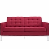 Florence Knoll Two Seat Loft Sofa Loveseat Wool