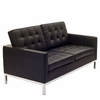 Florence Knoll Two Seat Loveseat Leather