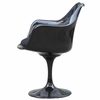 Flower Aluminum Dining Arm Chair in Black