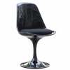 Flower Aluminum Dining Side Chair in Black