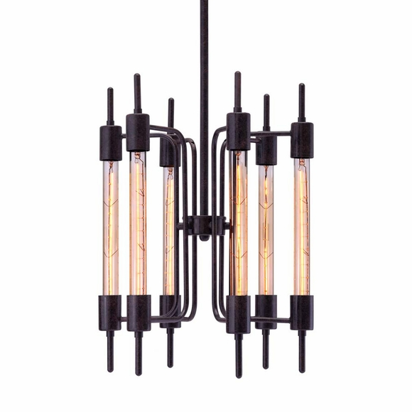 Gisborne Ceiling Lamp Distressed Black