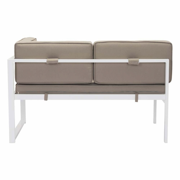 golden beach chaise rhf white taupe modern in designs. Black Bedroom Furniture Sets. Home Design Ideas