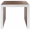Gridiron Small Wood Inlay Bench