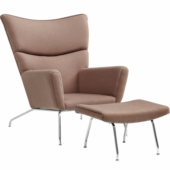Hans wegner wing chair ottoman lounge chair modern in designs - Wegner wing chair replica ...