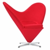 Heart Red Chair in Wool