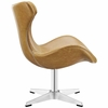 Helm Lounge Chair in Tan