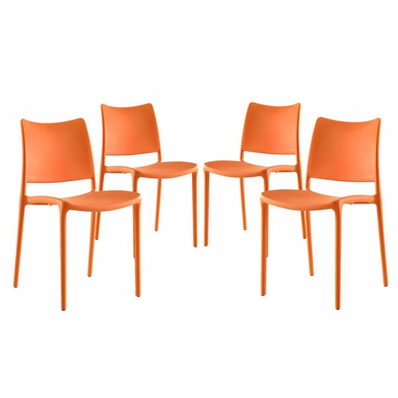 Modern Contemporary Urban Design Kitchen Dining Side Chair: Hipster Dining Side Chair Set Of 4