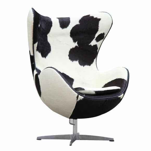 Inner Chair Pony Hide and White