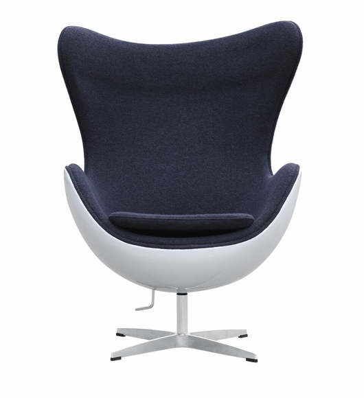 Jacobsen Style Egg Chair Fiber-Glass Shell