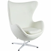 Jacobsen Style Egg Chair Leather