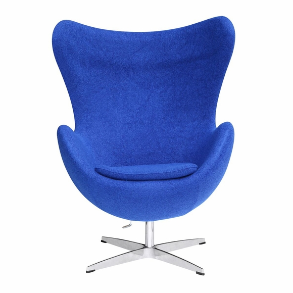 Jacobsen Style Egg Chair Wool Blue