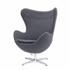 Jacobsen Style Egg Chair Wool Gray