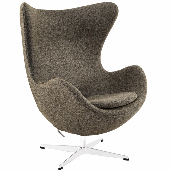 Jacobsen Style Egg Chair Wool Oatmeal