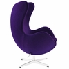 Jacobsen Style Egg Chair Wool Purple