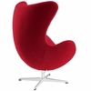 Jacobsen Style Egg Chair Wool Red